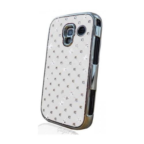 Coverzone Samsung Galaxy Ace 2 İ8160 Kılıf Taşlı Arka Kapak