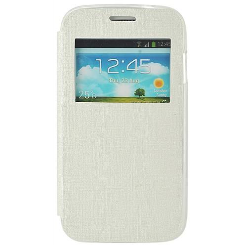 Coverzone Samsung Galaxy Ace 4 Kılıf Tstm Tek Pencereli Kapaklı