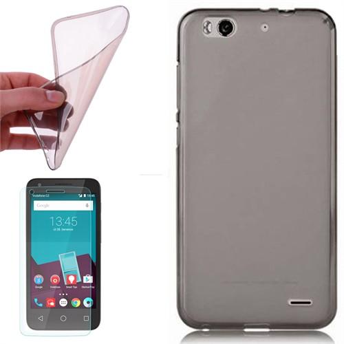 Cep Market Vodafone Smart 6 Kılıf 0.2Mm Antrasit Silikon - Kırılmaz Cam