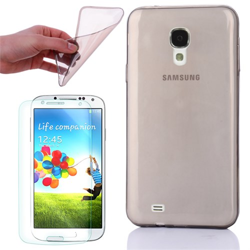 Cep Market Samsung Galaxy S4 Kılıf 0.2Mm Antrasit Silikon - Kırılmaz Cam