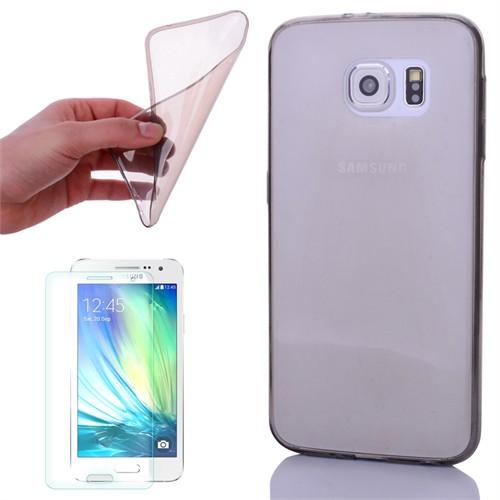 Cep Market Samsung Galaxy A5 2016 Kılıf 0.2Mm Antrasit Silikon - Kırılmaz Cam