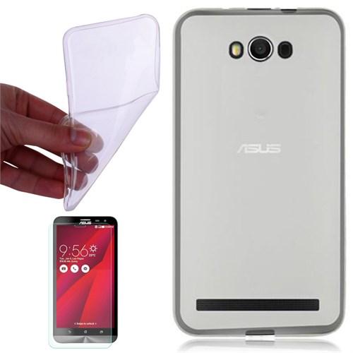 Cep Market Asus Zenfone Max Kılıf 0.2Mm Şeffaf Silikon - Kırılmaz Cam
