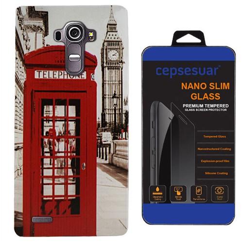 Cepsesuar Lg G4 Kılıf Silikon Desenli Telefon - Kırılmaz Cam