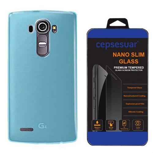 Cepsesuar Lg G4 Kılıf Silikon 0.2 Mm Mavi - Kırılmaz Cam