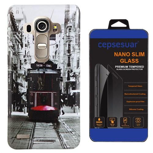 Cepsesuar Lg G4 Kılıf Silikon Resimli Tramvay - Kırılmaz Cam