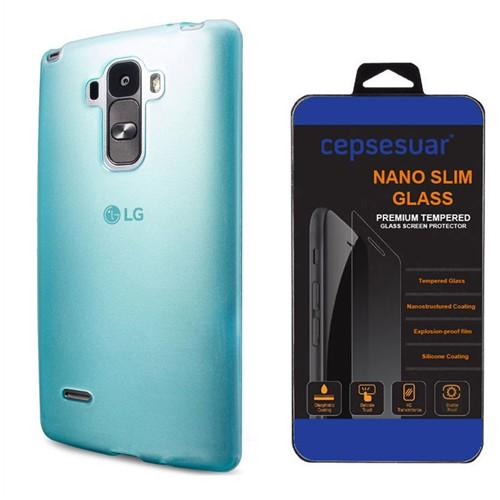 Cepsesuar Lg G4 Stylus Kılıf Silikon 0.2 Mm Mavi - Kırılmaz Cam
