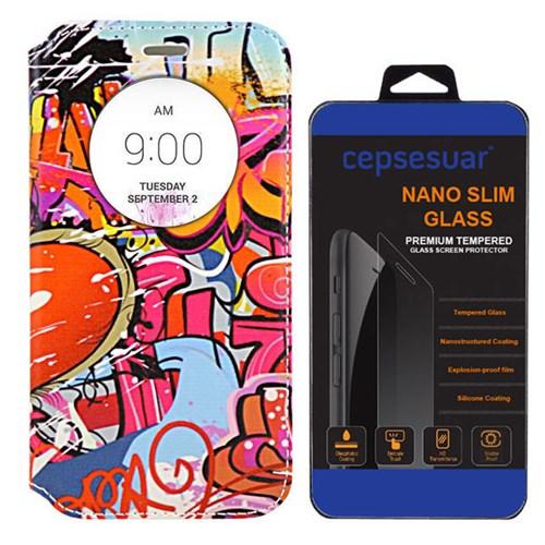 Cepsesuar Lg G4 Stylus Kılıf Standlı Grafiti - Kırılmaz Cam