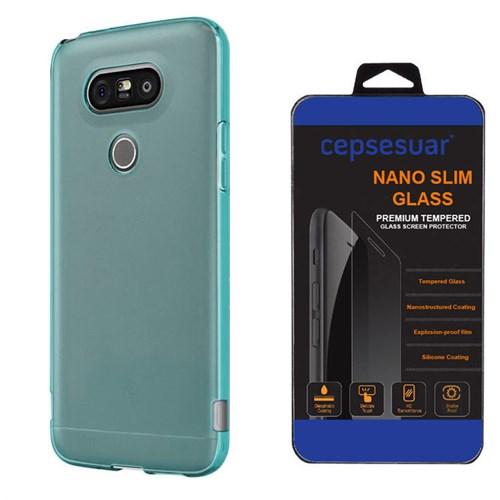 Cepsesuar Lg G5 Kılıf Silikon 0.2 Mm Mavi - Kırılmaz Cam
