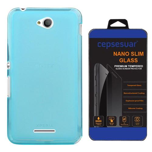 Cepsesuar Sony Xperia E4g Kılıf Silikon 0.2 Mm Mavi - Kırılmaz Cam