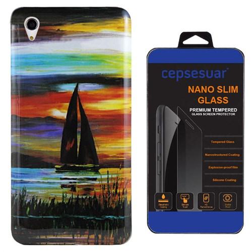 Cepsesuar Sony Xperia M4 Aqua Kılıf Silikon Resimli Yelken - Kırılmaz Cam