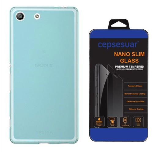 Cepsesuar Sony Xperia M5 Kılıf Silikon 0.2 Mm Mavi - Kırılmaz Cam