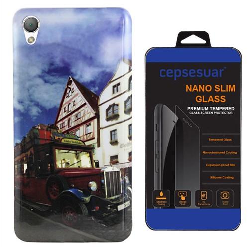 Cepsesuar Sony Xperia Z1 Kılıf Silikon Resimli Araba - Kırılmaz Cam