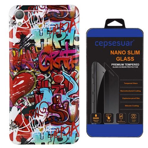 Cepsesuar Sony Xperia Z1 Kılıf Silikon Resimli Grafiti - Kırılmaz Cam