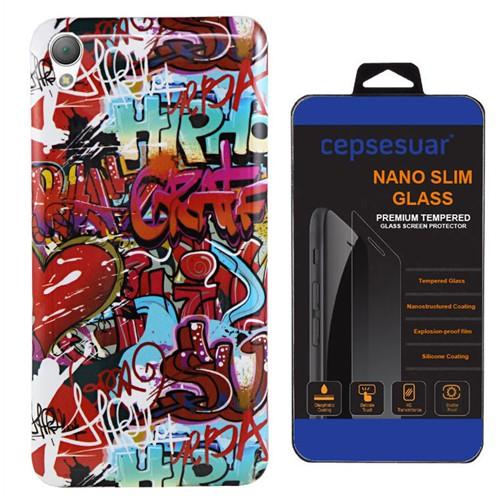 Cepsesuar Sony Xperia Z2 Kılıf Silikon Resimli Grafiti - Kırılmaz Cam