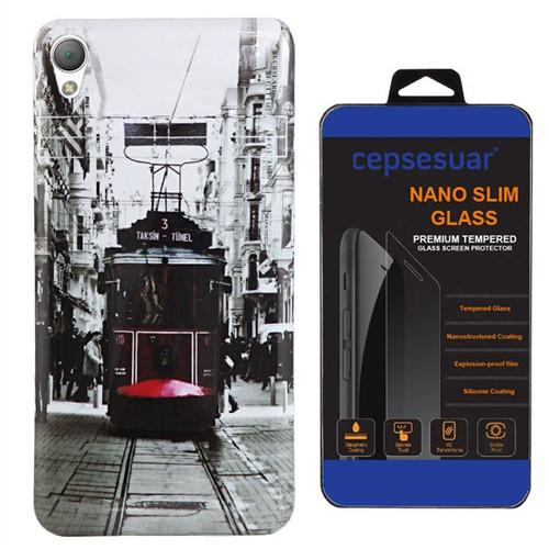 Cepsesuar Sony Xperia Z2 Kılıf Silikon Resimli Tramvay - Kırılmaz Cam