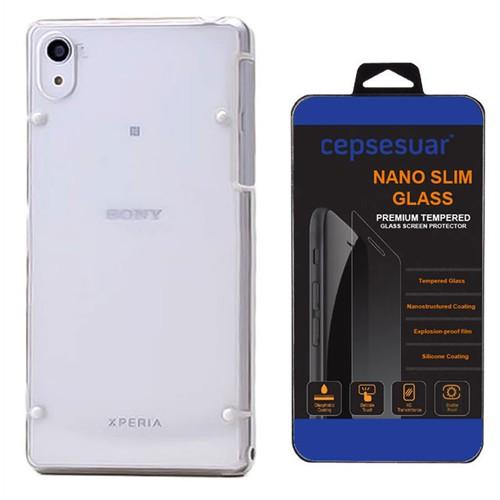 Cepsesuar Sony Xperia Z2 Kılıf Silikon 4 Noktalı Beyaz - Kırılmaz Cam
