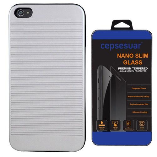 Cepsesuar Sony Xperia Z5 Kılıf Youyou Gri - Kırılmaz Cam