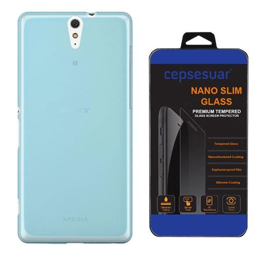 Cepsesuar Sony Xperia C5 Kılıf Silikon 0.2 Mm Mavi - Kırılmaz Cam