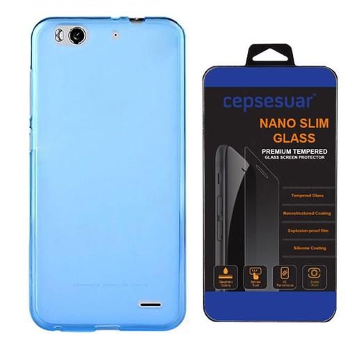 Cepsesuar Vodafone Smart 6 Kılıf Silikon 0.2 Mm Mavi - Kırılmaz Cam