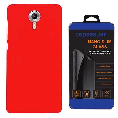 Cepsesuar General Mobile Gm5 Plus Kılıf Silikon Kırmızı - Kırılmaz Cam