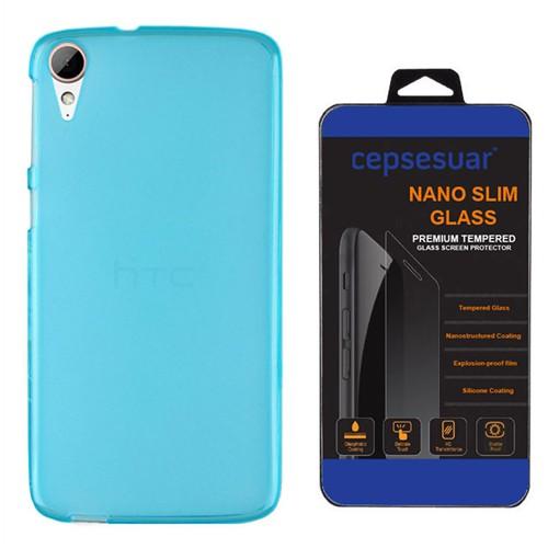 Cepsesuar Htc Desire 828 Kılıf Silikon 0.2 Mm Mavi - Kırılmaz Cam