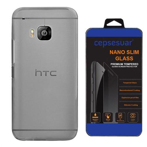 Cepsesuar Htc One M9 Kılıf Silikon 0.2 Mm Siyah - Kırılmaz Cam