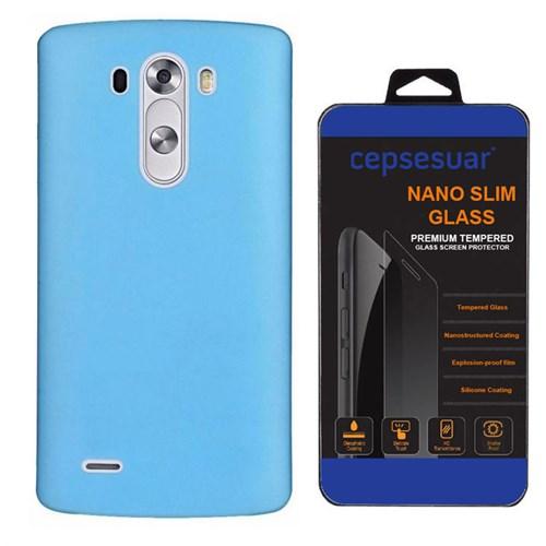 Cepsesuar Lg G3 Kılıf Silikon 0.2 Mm Mavi - Kırılmaz Cam