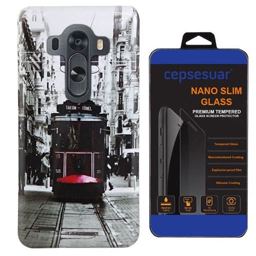 Cepsesuar Lg G3 Kılıf Silikon Resimli Tramvay - Kırılmaz Cam