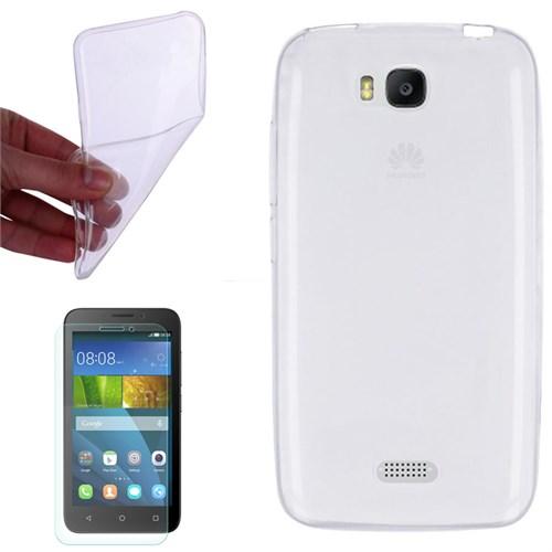 Cep Market Huawei Y5c Kılıf 0.2Mm Şeffaf Silikon - Kırılmaz Cam