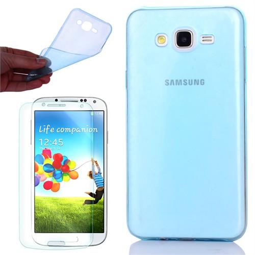 Cep Market Samsung Galaxy S3 Kılıf 0.2Mm Mavi Silikon - Kırılmaz Cam