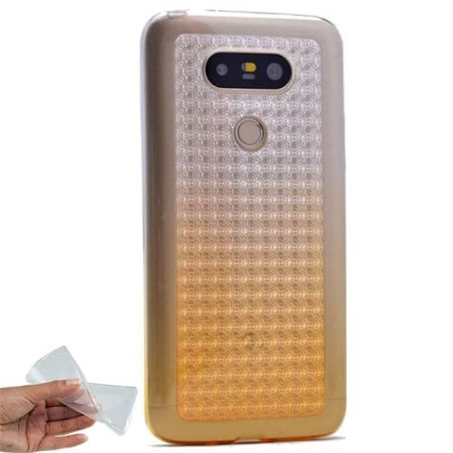Teleplus Lg G5 Çift Renkli Tam Korumalı Silikon Kılıf Gold