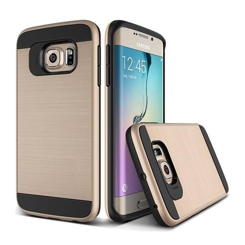 Teleplus Samsung Galaxy S7 Edge Çift Katmanlı Kapak Kılıf Gold