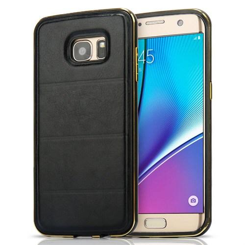 Teleplus Samsung Galaxy A5 2016 Derili Metal Kılıf Kapak Siyah