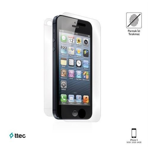 Ttec Profesyonel Ekran Koruyucu Parmak İzi Bırakmayan İphone Se/5S/5 Çift Taraflı