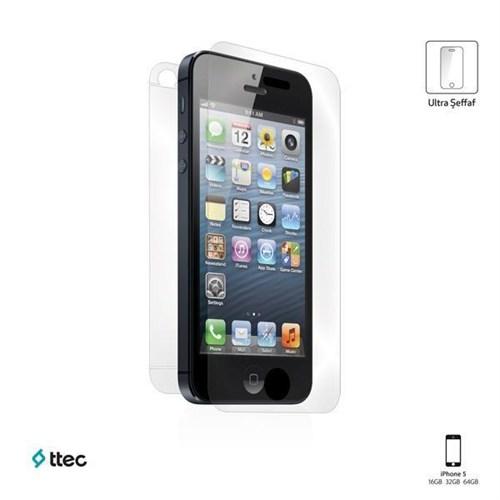 Ttec Profesyonel Ekran Koruyucu Ultra Şeffaf İphone Se/5S/5 Çift Taraflı