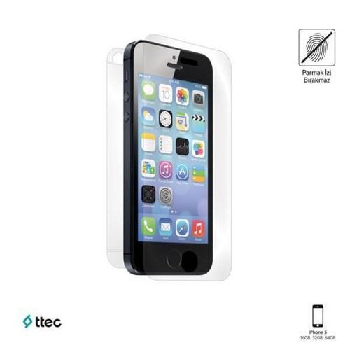 Ttec Ekran Koruyucu Parmak İzi Bırakmayan İphone Se/5S/5 Çift Taraflı