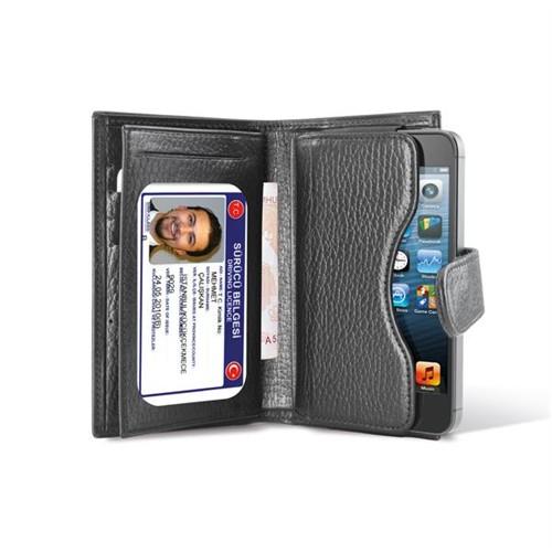 Ttec Cüzdan Deri Kılıf Üniversal İphone 5 Vb.