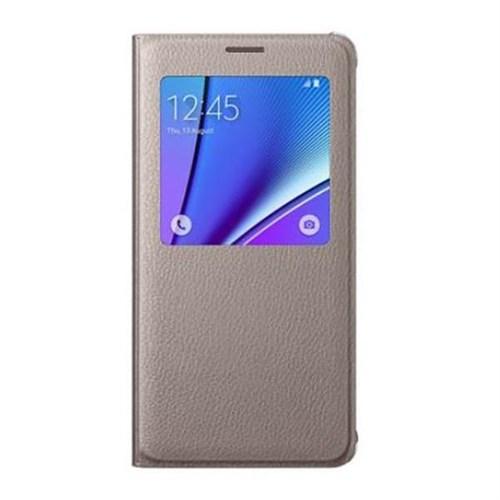 Samsung S6 Edge Plus S View Cover Fonksiyonel Altın Kılıf
