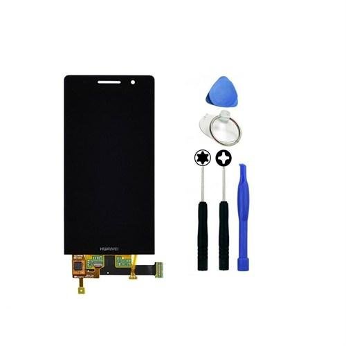 Huawei Ascend P6 Orjinal Dokunmatik Lcd Ekran Siyah + Sökme Aparatı