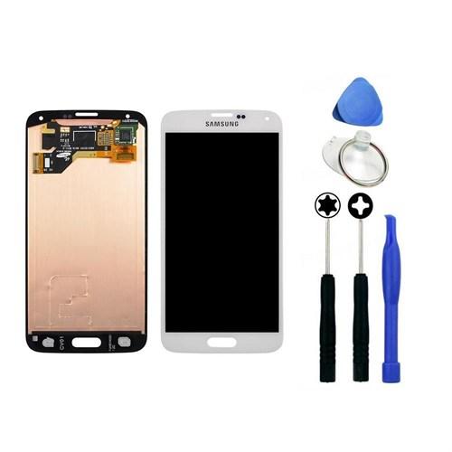 Samsung Galaxy S5 Dokunmatik Orjinal Ekran Beyaz + Sökme Aparatı