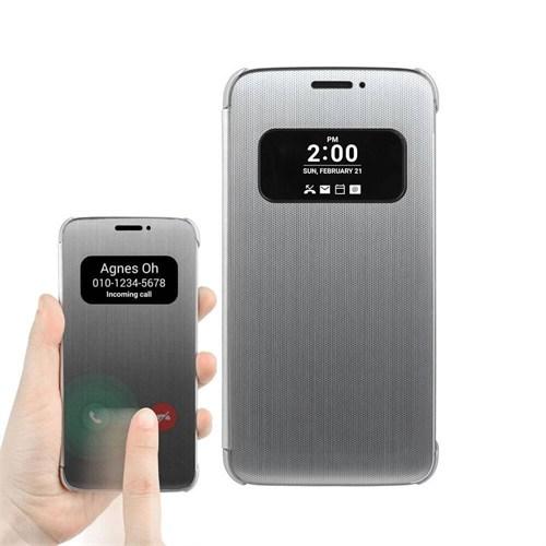 Teleplus Lg G5 Sensörlü Pencereli Kılıf Kapak Gümüş