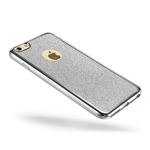Markaavm İphone 6S Plus 6 Plus Kılıf Simli Silikon