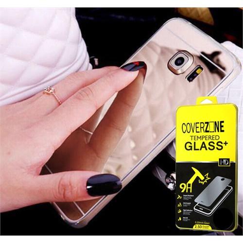 Coverzone Lg G5 Kılıf Aynalı Silikon Gümüş