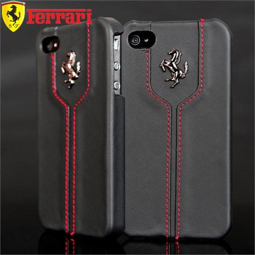 Coverzone İphone 4 4S Kılıf Ferrari Lisanslı Deri Kapak