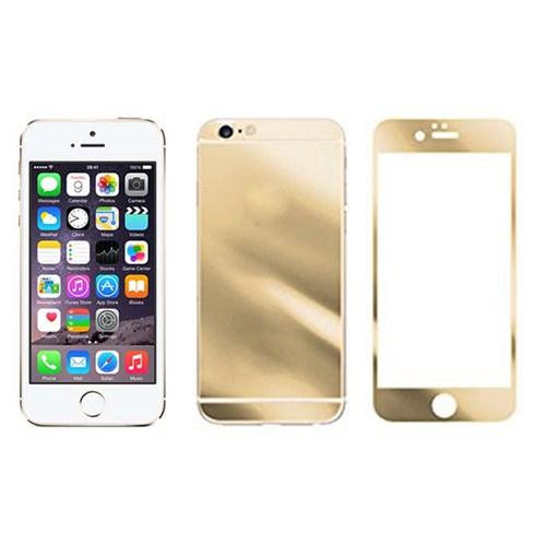 Microcase Apple İphone 5-5S Ön Arka Takım Siyah Tempered Glass Cam Koruma