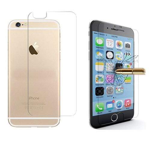 Microcase Apple İphone 6-6S Ön Arka Takım Tempered Glass Cam Koruma