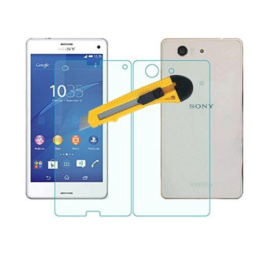 Microcase Sony Xperia Z3 Compact Ön Arka Takım Tempered Glass Cam Koruma