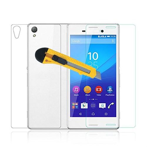 Microcase Sony Xperia M4 Aqua Ön Arka Takım Tempered Glass Cam Koruma
