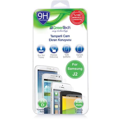 Greentech Samsung J2 Glass Cam Ekran Koruyucu