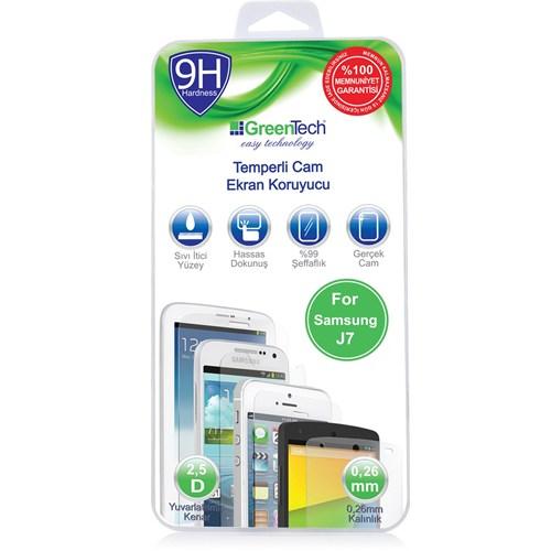 Greentech Samsung J7 Glass Cam Ekran Koruyucu